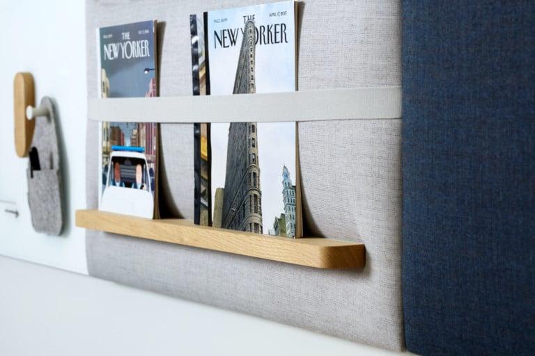 Design Award / Informationszentrum / Wandpaneel / Zeitschriften / Prospekte / Garderobe