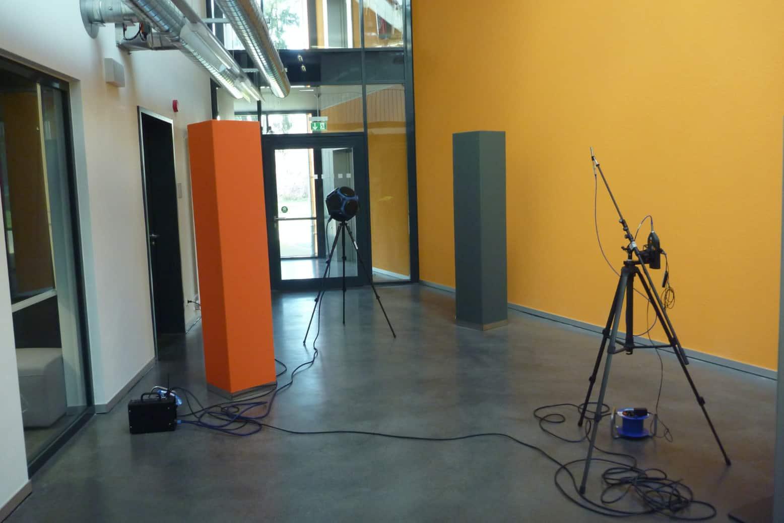 Messen / Berechnen / Testen / Akustik / Experte / Gestalter / Ruhe / Akustikmessung