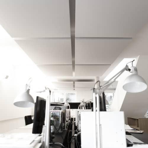Absorber / vertikal / Deckenspiegel / Büro / Kantine / Großraumbüro