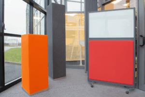 Akustikelement / Abtrennung / Abschirmung / System / Glas