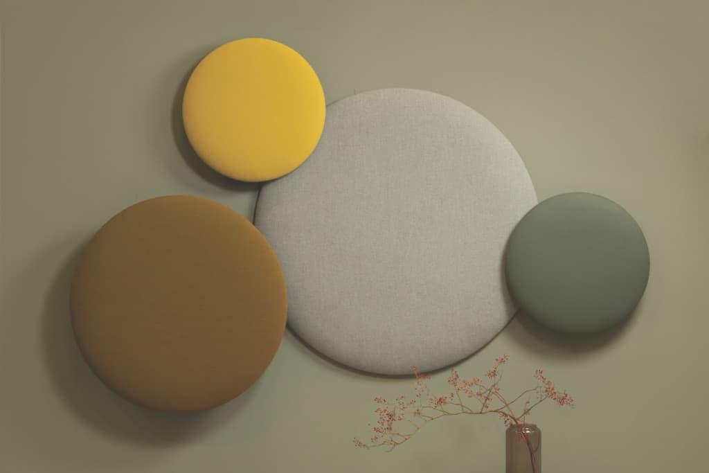 Wandabsorber / Design / Rund / Schallschluckend