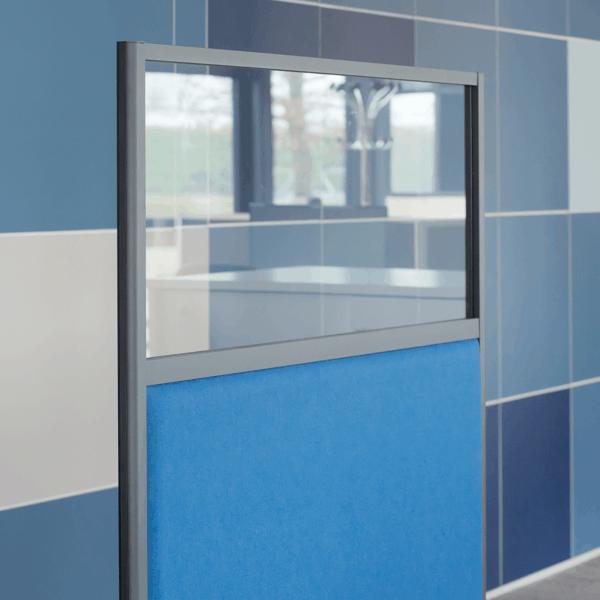 Akustikelement / Abtrennung / Abschirmung / System / Sichtfenster