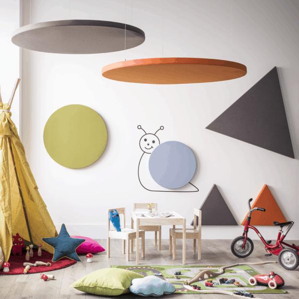 Rund / Dreieckig / Schall / Ruhe / Formen / Akustikpaneel