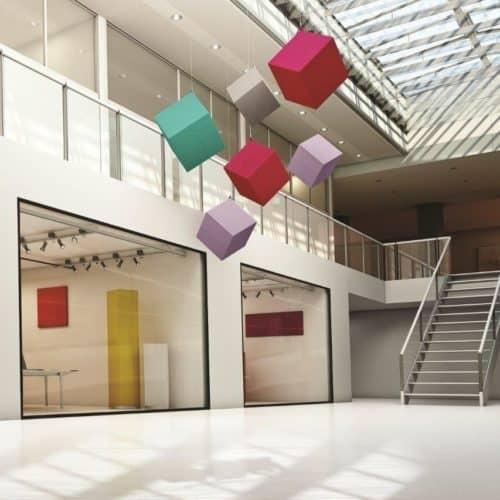 Objekte / schallschluckend / hängend / Akustik / Kindergarten