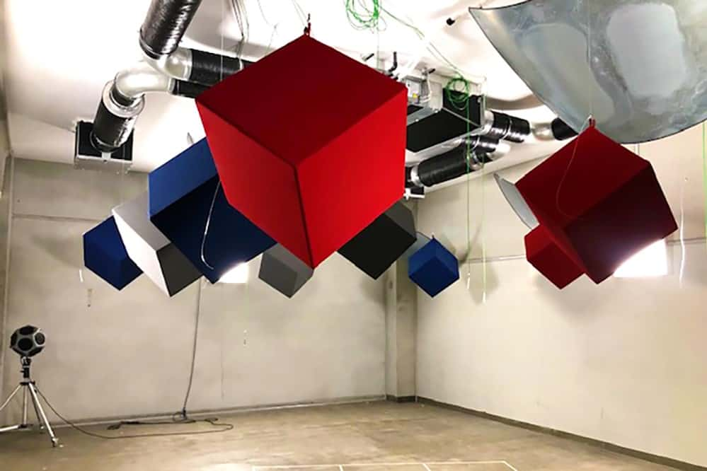 Akustikwürfel im Labor