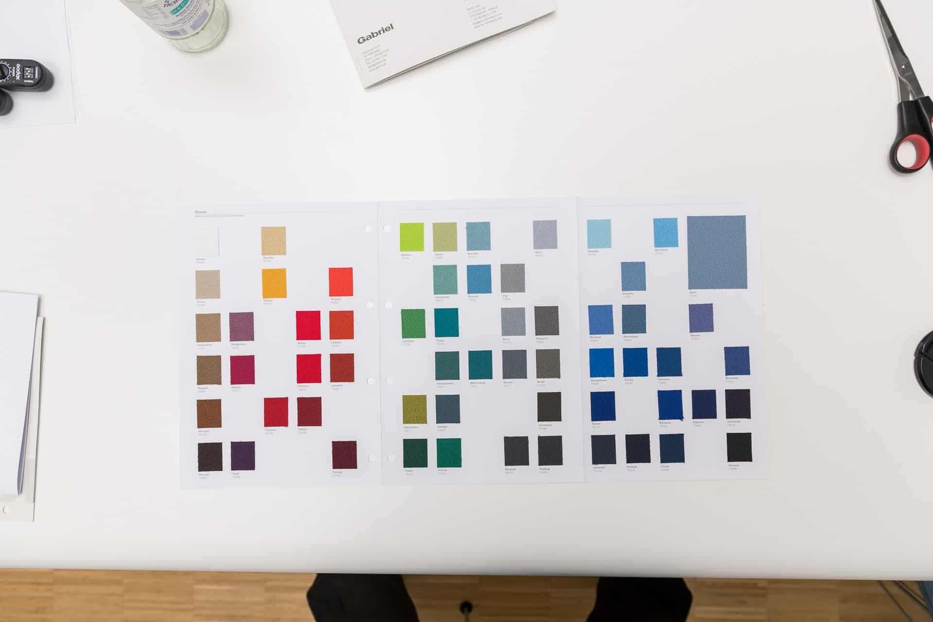 RAL Farben / Farbpalette / objectiv AluFrame Smart Akustikpaneel für Wand und Decke Farben